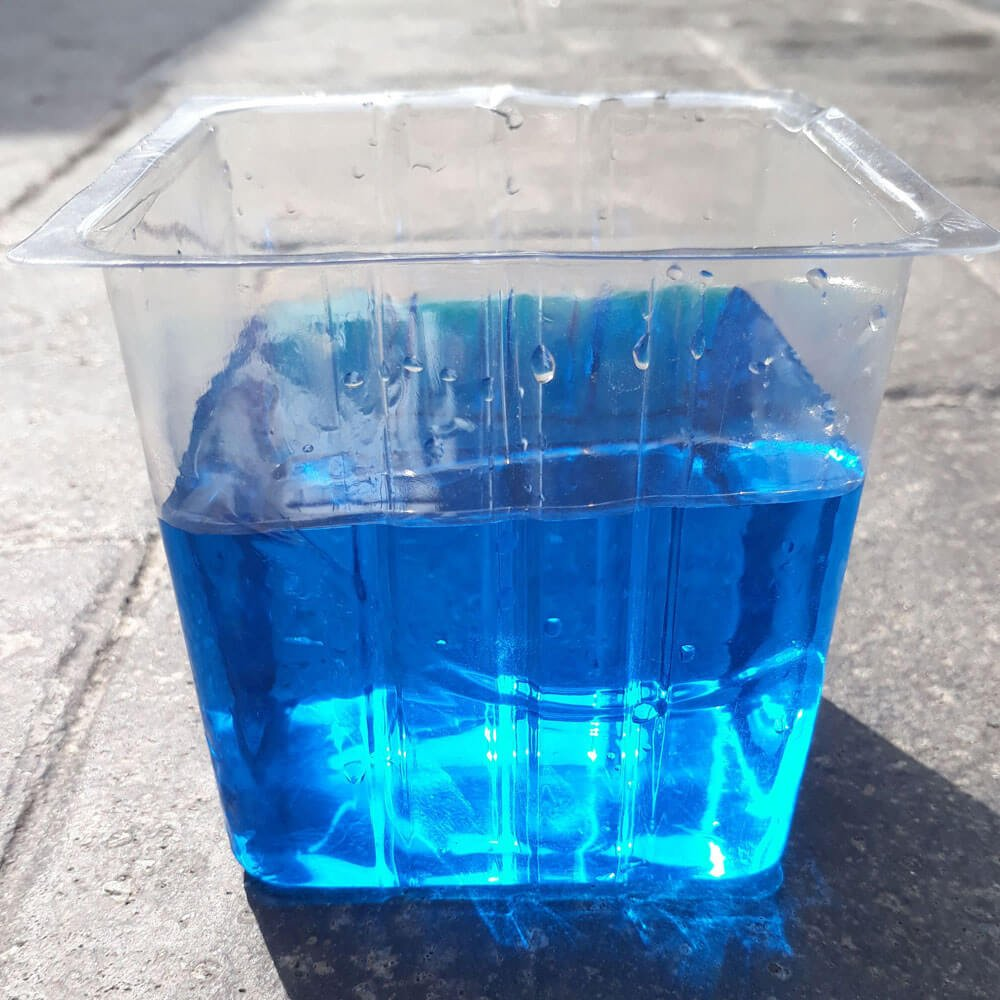 A saturated solution of copper acetate.