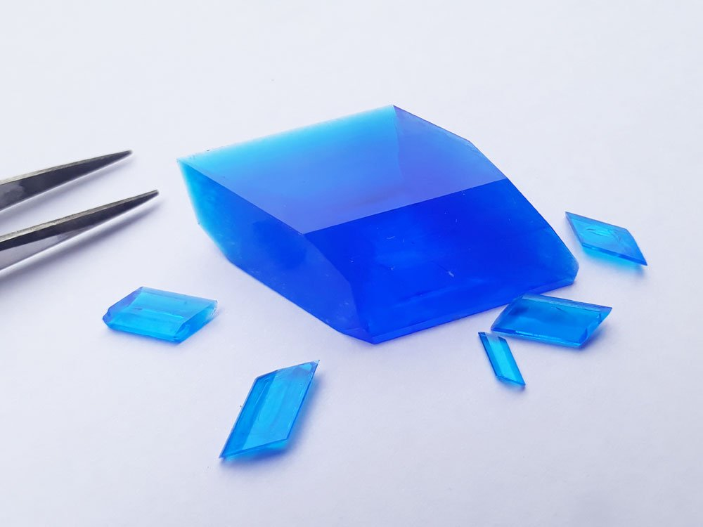 A bunch of copper sulfate crystals