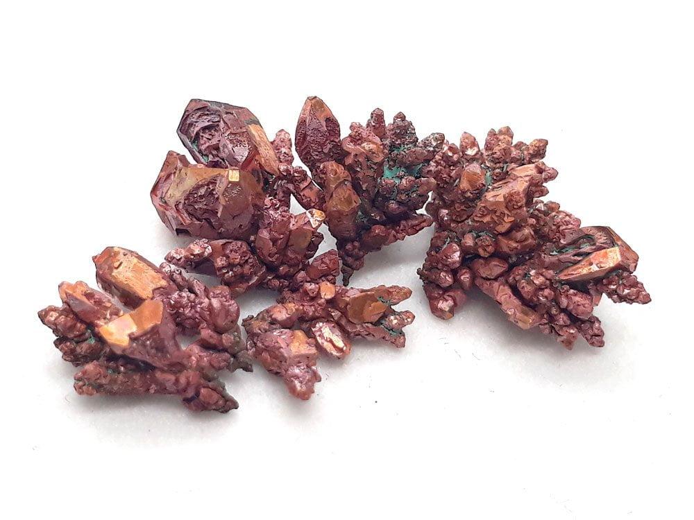 Pure copper metal crystals