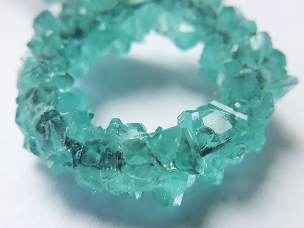 Iron sulfate crystals closeup